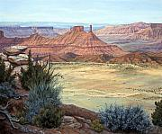 Canyon Paintings - Castle Rock IV by Page Holland
