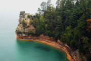 Munising Prints - Castle Rock Print by Michael Peychich