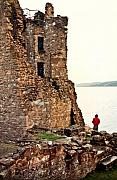 Observer Prints - Castle Ruins on the Seashore in Ireland Print by Douglas Barnett