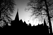 Battlement Prints - Castle Silhouette Print by Semmick Photo