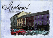 Colorful Buildings Posters - Castle Square Athlone Ireland Poster by Teresa Mucha