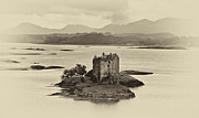 Campbell Clan Framed Prints - Castle Stalker Framed Print by Chris Thaxter