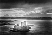Medieval Framed Prints - Castle Stalker Framed Print by Simon Marsden