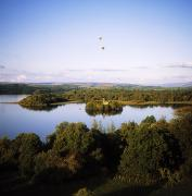 Hot Air Balloon Prints - Castleisland Lough Key Forest Park Print by The Irish Image Collection 