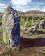 Henge Paintings - Castlerigg 2 by David Kelavey