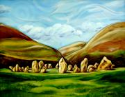 Visionary Art Painting Prints - Castlerigg Stone Circle Print by Susan Tower