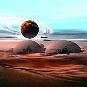 Spaceship Digital Art - Castles in the Sand by Corey Ford