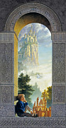 Fantasy Tapestries Textiles - Castles in the Sky by Greg Olsen