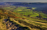 Derbyshire Cross Prints - Castleton In The Hope valley Print by Darren Burroughs