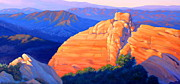 Canyon Paintings - Castro Crest Panorama study by Elena Roche