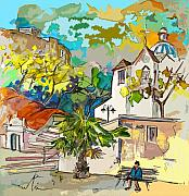 Travel Sketch Prints - Castro Marim Portugal 13 bis Print by Miki De Goodaboom