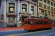 Trolley Photos - Castro Street Trolley by Tom Reynen
