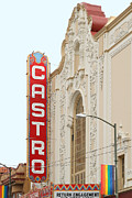 West Coast Art Prints - Castro Theater in San Francisco . 7D7579 Print by Wingsdomain Art and Photography