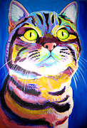 Dawgart Prints - Cat - Akiko Print by Alicia VanNoy Call