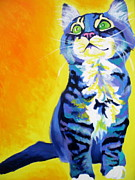 Dawgart Prints - Cat - Here Kitty Kitty Print by Alicia VanNoy Call