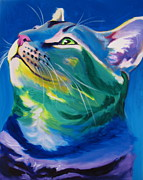Dawgart Painting Originals - Cat - My Own Piece of Sky by Alicia VanNoy Call