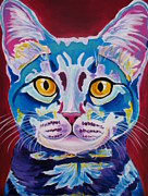 Dawgart Framed Prints - Cat - Mystery Reboot Framed Print by Alicia VanNoy Call