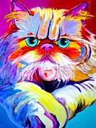 Persian Cat Paintings - Cat - Tigger by Alicia VanNoy Call