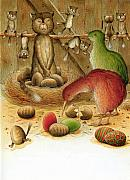 Featured Art - Cat and Kiwis by Kestutis Kasparavicius