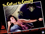 Horror Fantasy Movies Metal Prints - Cat And The Canary, The, Paulette Metal Print by Everett
