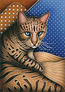 Cat Artwork Framed Prints - Cat Andrea Framed Print by Carol Wilson
