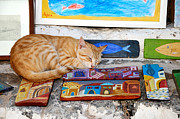 Paint Photos - Cat artist by George Atsametakis
