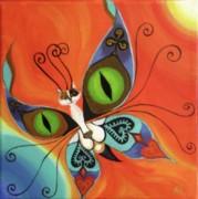 Cat-eyes Butterfly Print by Melina Mel P