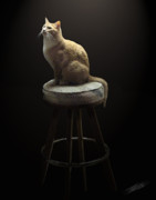 Repose Art - Cat in Repose by Peter Piatt