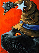 Linda Apple Painting Metal Prints - Cat in the Hat with company Metal Print by Linda Apple
