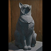Still Life Sculptures - Cat by Jerry Williams