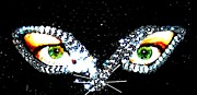 Sequin Metal Prints - Cat Mask Metal Print by C Lythgoe