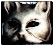 Cat Pictures Posters - Cat Mask Poster by John Rizzuto