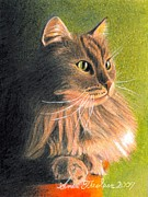 Cat Miniature Print by Ana Tirolese