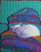 Cats Framed Prints - Cat Nap Framed Print by Adele Bower