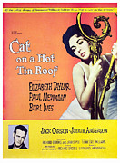 1950s Movies Photo Framed Prints - Cat On A Hot Tin Roof, Elizabeth Framed Print by Everett