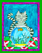 Pamela Corwin Art - Cat  by Pamela  Corwin