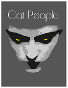 Panther Digital Art Framed Prints - Cat People Framed Print by Joaquin Abella Ojeda