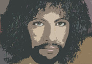 Guitar Player Pastels Posters - Cat Stevens Color Poster by Denise Haddock