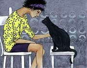 Cat Talk Print by Georgiana Chitac