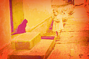 Photomanipulation Originals - Cat watching by Li   van Saathoff