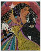 Cheetah Pastels - Cat Woman From Palenque by Pamela Mccabe