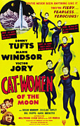 1950s Poster Art Framed Prints - Cat Women Of The Moon, Sonny Tufts Framed Print by Everett