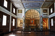 Wattle Framed Prints - CATALDO MISSION ALTAR and INTERIOR Framed Print by Daniel Hagerman