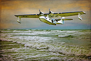 Flying Digital Art Prints - Catalina Flying Boat Print by Chris Lord