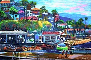 Acrylic Mixed Media - Catalina Island 2 by Romy Galicia