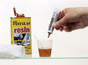 Resin Photos - Catalytic Hardening Of Fibreglass Resin by Martyn F. Chillmaid