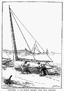 Catboat Framed Prints - Catboat, 1882 Framed Print by Granger