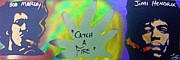 Stencil Art Paintings - Catch A Fire by Tony B Conscious