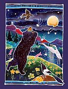 Bear Art Paintings - Catch a Shooting Star by Harriet Peck Taylor