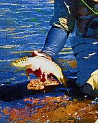 Trout Digital Art - Catch and Release by Diane E Berry